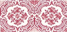 Azulejos (PCL014/09) - Christian Lacroix Wallpapers - A beautiful vintage tiled wallpaper design with a photographic feel for faded authenticity. Available in a number of contemporary colours. Shown here in Grenadine - more colours are available. Please request a sample for true colour match. Paste-the-wall product.