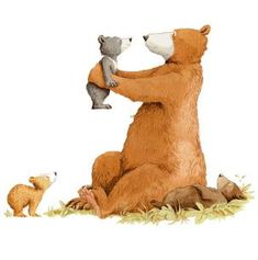 Cute Drawings, Animal Drawings, Art D'ours, Anita Jeram, Drawing Wallpaper, Bear Decor, Bear Art, Children's Book Illustration, Whimsical Art