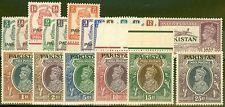 Pakistan 1947 set of 19 SG1-19 Fine MNH