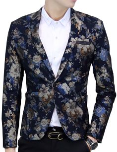 Discover our designer collections of blazers for men from PILAEO. Shop for a range of designer, floral and tailored styles and choose from different patterns. Shop today at PILAEO. Modern Mens Fashion, Look Fashion, Luxury Fashion, Fashion Men, Navy Blue Suit, Floral Blazer, Printed Blazer, Velvet Blazer, Blazer Fashion