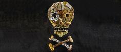 Skull and cross bones food.The danger of processed foods.