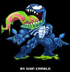 Venom by vancamelot on DeviantArt Chibi Marvel, Marvel Heroes, Marvel Characters, Marvel Comics, Anti Venom Marvel, Famous Superheroes, Marvel Concept Art, Aztec Tattoo Designs, Baby Avengers
