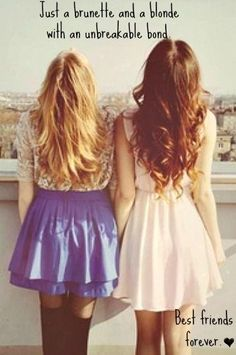 My best friend is a brunette, and I wouldn't replace her for anyone in the world! This blonde needs her brunette BFF! Now Quotes, Cute Quotes, Funny Sayings, Amazing Quotes, Happy Birthday Friend, Birthday Wishes, Happy Birthday Best Friend Quotes, Birthday Bash, Birthday Cards