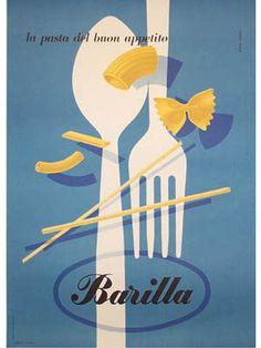 Barilla Pasta by Erberto Carboni|ポスター|Happy Graphic Gallery ハッピーグラフィックギャラリー