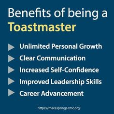Rejoin Toastmasters. I don't fear public speaking but my off-the-cuff speaking skills are getting rusty. The benefits of being a Toastmaster #publicspeaking
