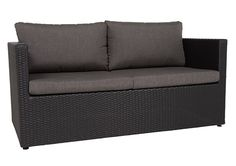 Capetown Occasional 2 Seater Black/Charcoal