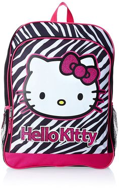 FAB Starpoint Little Girls' Hello Kitty Black and White Zebra Backpack >>> You can find more details by visiting the image link.