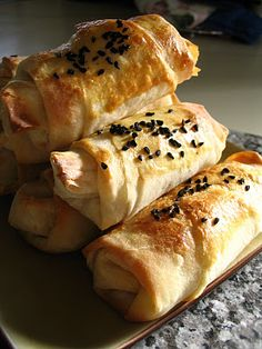 Sigara Böreği--Turkish style 'egg rolls' Stuffed with potato, feta ...
