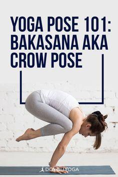 Yoga Pose 101: Bakasana aka Crow Pose #yoga #fitness #corestrength Yoga Fitness, Health Fitness, Fear Of Falling, Crow Pose, Game Face, Downward Dog, Yoga Tips, Yoga Benefits