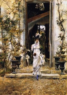 Berthe Going for a Walk | Giovanni Boldini | oil painting