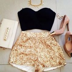 Zeliha's Blog: Golden Sequin Skirt Top Black The Fashion: Gorgeous dress black fur Summer outfits Teen fashion Cute Dress! Clothes Casual Outift for • teens • movies • girls • women •. summer • fall • spring • winter • outfit ideas • dates • school • parties mint cute sexy ethnic skirt