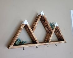 Mountain Shelf, Mountain Decor, Mountain Crafts, Mountain Nursery, Rustic Wall Decor, Wooden Decor, Wooden Gifts, Small Wood Projects, Diy Projects