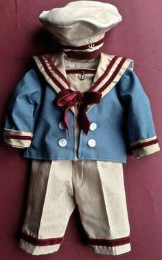 Small Edwardian Boy in Sailor Suit.
