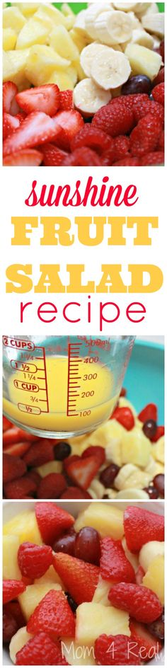 Sunshine Fruit Salad - Food Meme - Sunshine Fruit Salad Recipe Mom 4 Real The post Sunshine Fruit Salad appeared first on Gag Dad. Recipe Cup, Recipe For Mom, Summer Drinks, Summer Salads, Healthy Recipes, Cooking Recipes, Healthy Foods, Cooking Tips, Fruit Salad Decoration