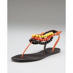 Burberry Beaded Cornwallis Flat Sandal found on Polyvore
