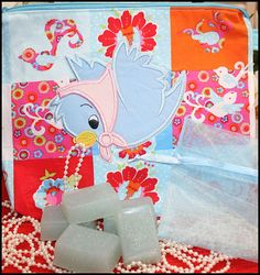 Cinderella Princess Gift Set Applique Cosmetic Bag and 5