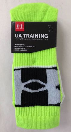 95d872b285 3 Pair Under Armour Men's MD Youth YL Shoe Sz 4Y-8Y Training Crew Socks  FUG/AST #fashion #clothing #shoes #accessories #mensclothing #socks (ebay  link)