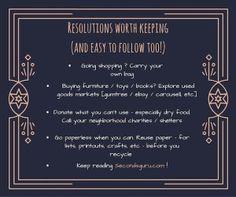 www.secondsguru.com #Savetheplanet   Easy resolutions which are worth keeping!