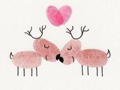 Sehe dir das Foto von Kunstfan mit dem Titel Romantische Weihnachtskarte für den liebsten:) So niedlich! Auch super wenn man Karten mit den Kindern basteln will und andere inspirierende Bilder auf Spaaz.de an.