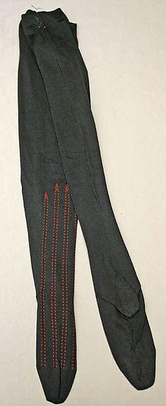 Stockings  Date: ca. 1900 Culture: French Medium: silk
