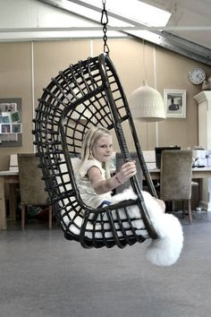 Hanging Chair Rattan Black by Moodadventures on Etsy, €219.00
