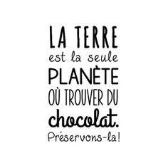 Sticker mural Planète-chocolat  Noir  35 x 60 cm