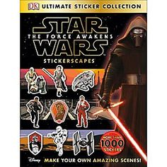 Ultimate Sticker Collection: Star Wars: The Force Awakens Stickerscapes Book | Disney Store Let your creativity run wild with the Ultimate Sticker Collection. Containing more than 1,000 reusable stickers, Stickerscapes includes 14 amazing backgrounds for you to create your own <i>Star Wars: The Force Awakens</i> scenes!