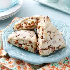 Cinnamon Chip Scones Recipe -These scones will melt in your mouth. They're delicious hot, warm or even cold! —Barbara Humiston, Tampa, Florida
