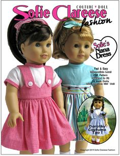 Sofie Clareese Fashion Sofie's Nana Dress Doll Clothes Pattern 18 inch American Girl Dolls | Pixie Faire