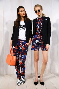 Loving the playful floral prints mixed with graphic tees and sleek blazers at Banana Republic Summer 2015 Spring Outfits Women, Summer Outfits, Fashion Lookbook, All About Fashion, Fashion Outfits, Fashion 2015, Ladies Fashion, Fashion Ideas, Style Inspiration