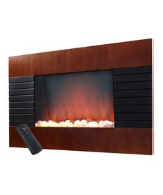 Take a look at this Warm House Mahogany Trim Fireplace Heater by Trademark Global on #zulily today!