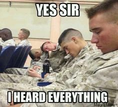 Aww poor guys I wouldn't last a day in military!!!!