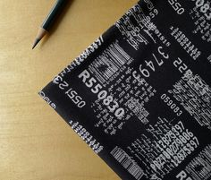 Comma  Zen Chic for Moda  News in Black HALF by TactileFabrics, $4.75