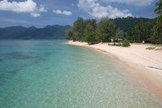 Monkey Beach on Tioman Island in Pahang, Malaysia