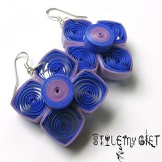 Twirly Square Paper Quilled Earrings by StyleMyGift on Etsy, $9.00