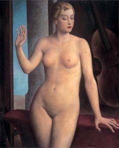 "artbeautypaintings:  "" Female nude - Ubaldo Oppi  """