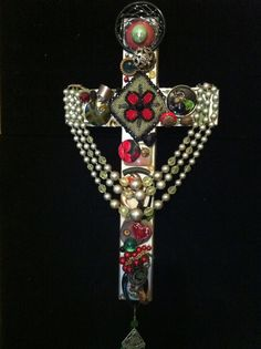 Bejeweled Altered Art Wall Cross by BejeweledbyWeazie on Etsy, $44.00