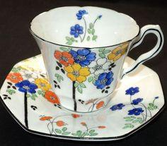 Bettina Melba Fleurr Artsy simplyTclub Tea cup and saucer