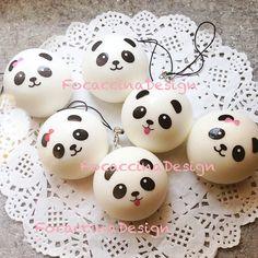 4 cm Kawaii squishy mini Panda bun super soft by FocaccinaDesign