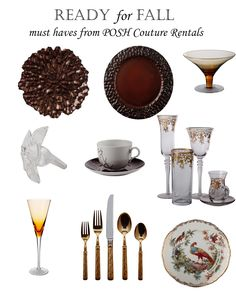 Ready for fall with our favorite essentials! Fall Must Haves, Wedding Events, Essentials, Seasons, Tableware, Thanksgiving, Dinnerware, Dishes, Thanksgiving Tree