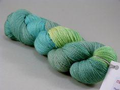 """Edle Mischung No. 2 handgefärbt """"frische Minze"""" von MeRo-Colors auf DaWanda.com"""