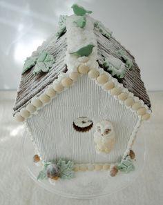 winter wonderland gingerbread birdhouse