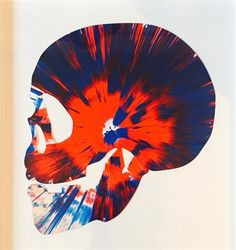 Scull spin Painting par Damien Hirst
