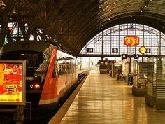 Train station in Leipzig, Germany.