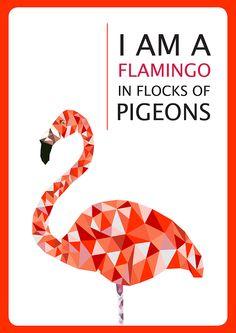 Flamingo Vector (Greeting Card Design) on Behance