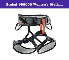 Stubai 998058 Women's Stella Sport Climbing Harness, Adjustable. The Stubai triple is a fully adjustable, really easy to wear, but also extremely light sport climbing harness. With the 3 Fast fix buckles on the waist belt and on both leg loops, you can forget slow and fiddly threading. With the draw strap, the tie-in point can be centered with speed and ease. That makes this rig ideal for both rentals and for year-round users who are on the rock and ice in a variety of thickness of…