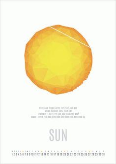 2014 Calendar Design Inspiration from Universe