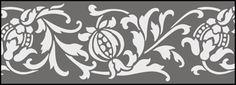 Budget Pomegranates stencils, stensils and stencles
