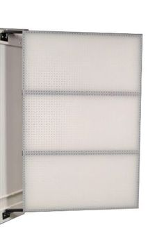 Triton Products W1-D XtraWall Swing Panel Pegboard 48-Inch W by 72-Inch H by 1-1/2-Inch D Wall Mount Double-Sided Polypropylene by Triton. $494.99. Accommodate both durahook locking hooks or 1/4-inch standard pegboard hooks. Includes industrial strength steel pivot wall brackets and all hardware needed for secure mounting to solid, concrete or block walls while hollow walls with studs require the use of 2-Inch by 6-Inch wood headers. XtraWall swing panel syste...