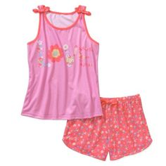 Girls' 2 Piece Graphic Poly Tank/Short Sleep Sets